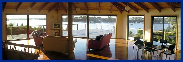 Living Area Of Strahan House Showing The Magnificent View